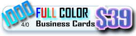 1000 full color business cards for 39